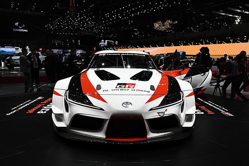 ジュネーブショーで発表された「GRスープラ レーシングコンセプト」の実車