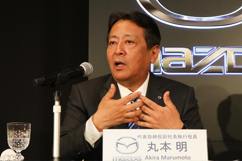 トヨタとの協業で、単独では難しいことを話し合い、上手く噛み合う関係を築いて前に進めたいとコメントする丸本氏