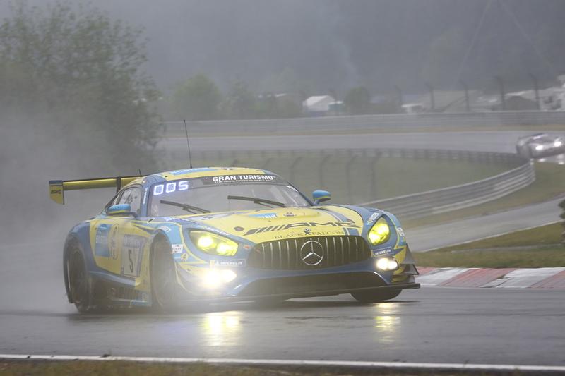 総合2位を獲得したMercedes-AMG Team Black Falconの5号車 Mercedes-AMG GT3