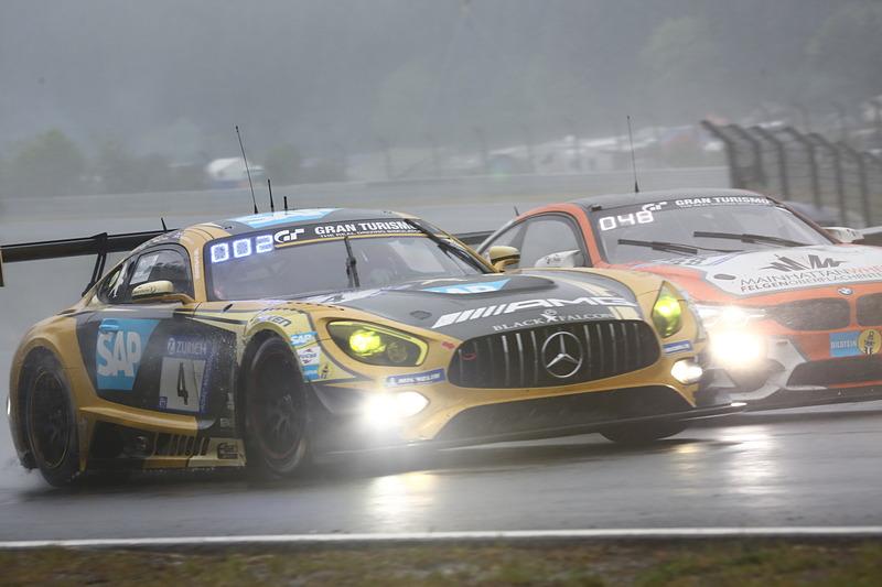 総合3位を獲得したMercedes-AMG Team Black Falconの4号車 Mercedes-AMG GT3