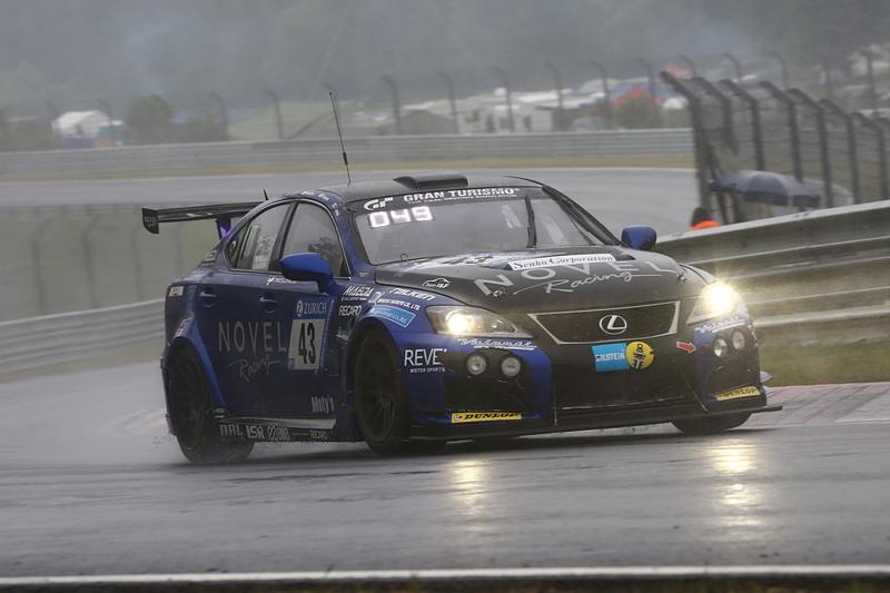 総合46位となったNovel Racingの43号車 Lexus ISF CCS-R