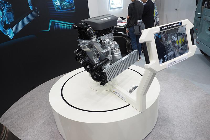 """直列4気筒DOHC 1.4リッター直噴ターボ「K14C」型""""ブースタージェットエンジン"""""""