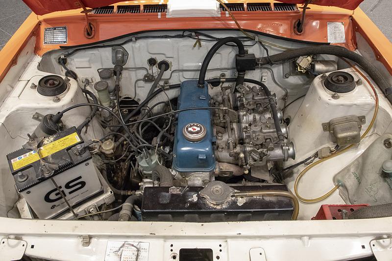 TSレース用にチューンされた「A12」型エンジン。排気量は1171ccから1270ccにアップされている
