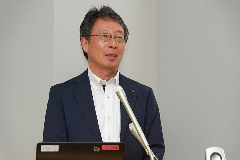 デジタル戦略について解説するヤマハ発動機株式会社 先進技術本部 フェローの平野浩介氏