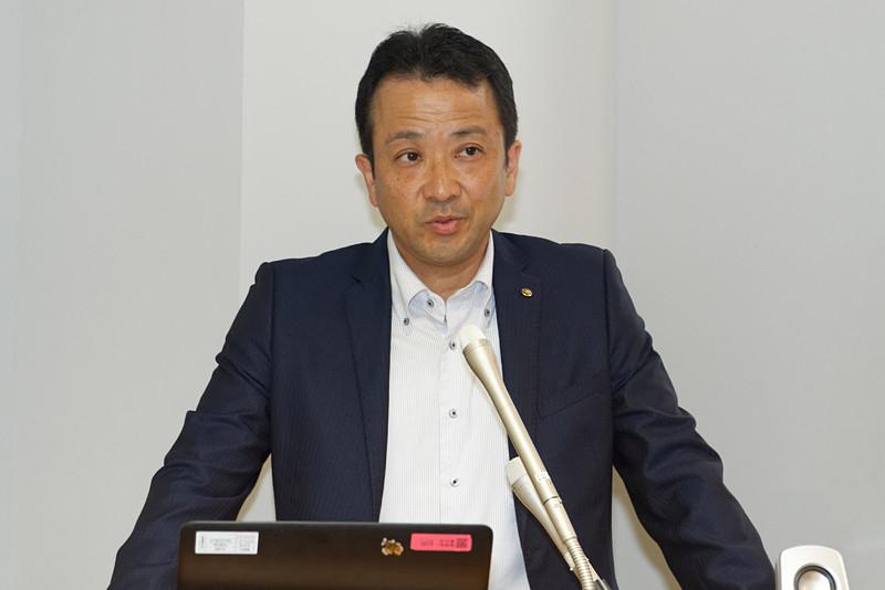 新たな拠点や人材募集について説明したヤマハ発動機株式会社 ソリューション技術本部・ロボティクス事業部 先進技術部長の中村亮介氏