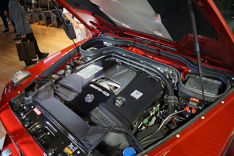 メルセデスAMG G 63に搭載されるAMG V型8気筒 4.0リッター直噴ツインターボ「M177」型エンジン