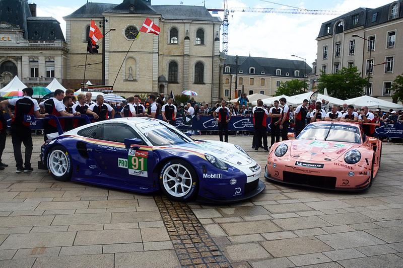 LMGTE-Proクラス 91号車と92号車のポルシェ 911 RSR(PORSCHE GT TEAM)