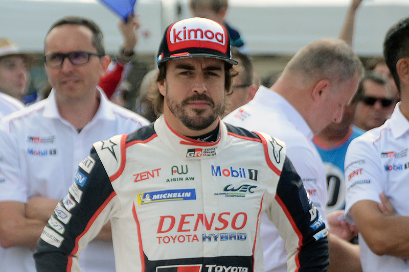 TS050 HYBRID(8号車)のドライバーを務めるフェルナンド・アロンソ選手