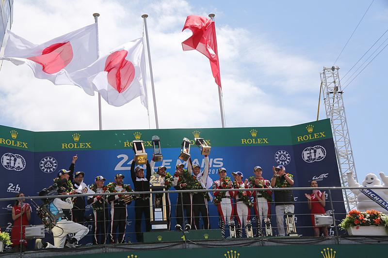 ル・マン24時間レースは8号車 トヨタ TS050-HYBRID(セバスチャン・ブエミ/フェルナンド・アロンソ/中嶋一貴組、MI)が優勝。トヨタにとって初優勝となる