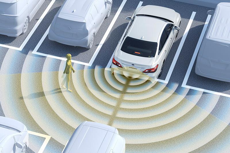 カメラで歩行者を検知して、衝突の危険性がある場合には警報とブレーキ制御で被害を軽減する「パーキングサポートブレーキ」をトヨタブランドで初めてオプション設定
