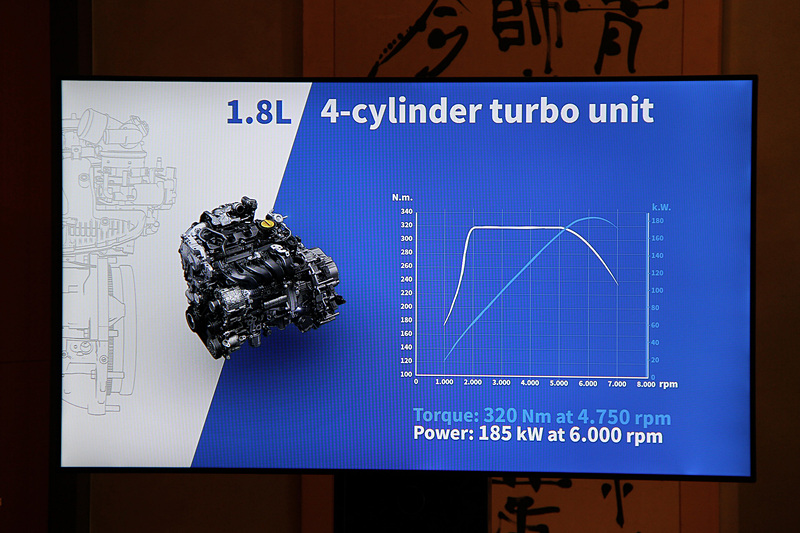 ルノー・日産アライアンスによる新開発の直列4気筒DOHC 1.8リッター直噴ターボ「M5P」型エンジン