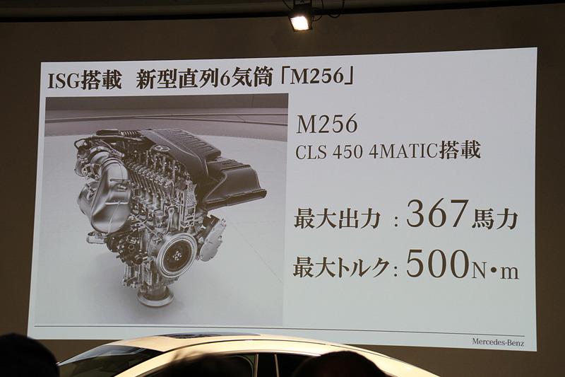 CLS 450 4MATIC スポーツが搭載する直列6気筒エンジンのスペック