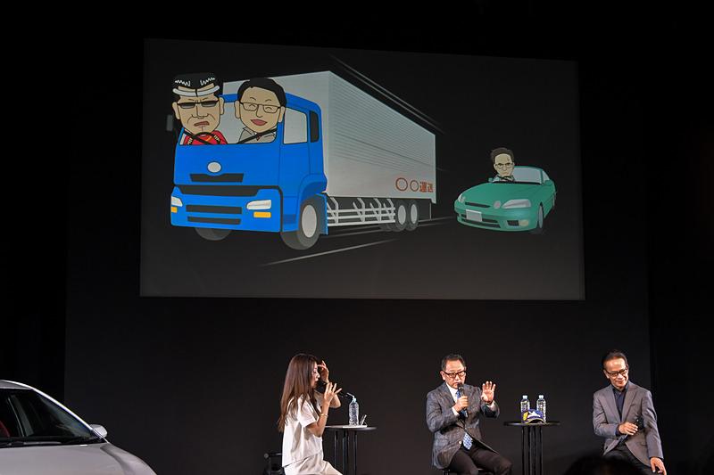 配送の現状調査では、追いかけていたトラックを停めて豊田社長が乗り込んだという