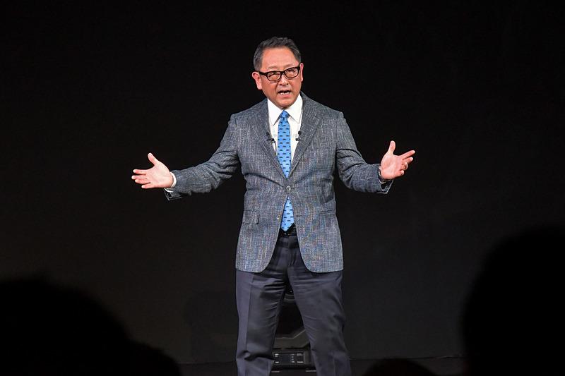 最後に登壇し、世界に向けて熱く語る豊田社長