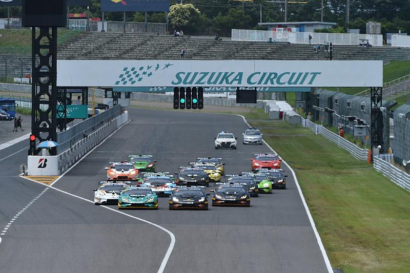 ランボルギーニ スーパートロフェオ・アジアシリーズ 2018 第3戦 鈴鹿のレーススタートシーン