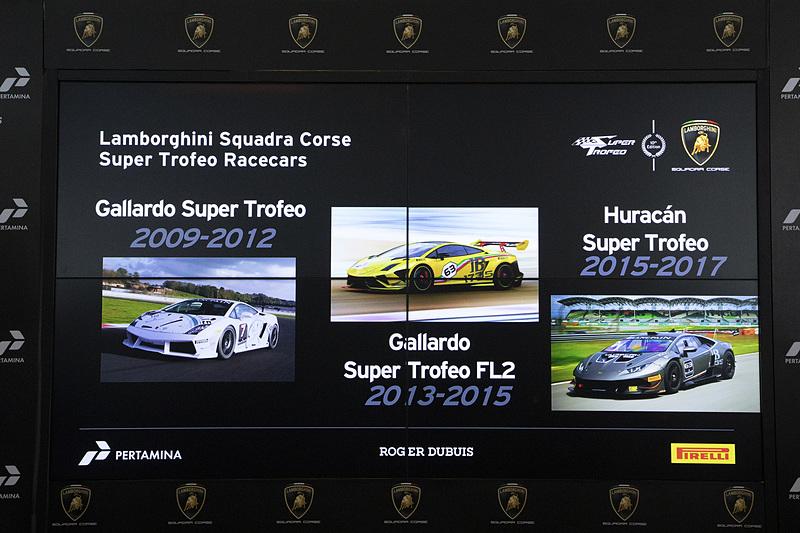ランボルギーニ スクアドラ・コルセが手がけたスーパートロフェオ用のレースカー。2009年に「ガヤルド スーパートロフェオ」、2013年に第2世代のガヤルド スーパートロフェオ、2015年からウラカン スーパートロフェオとなった