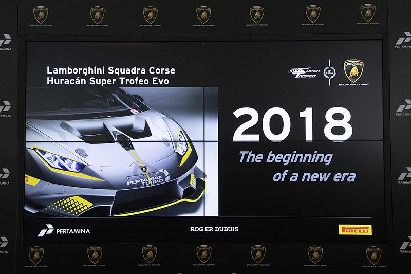 2018年からレース投入したウラカン スーパートロフェオ EVO。「新しいレーステクノロジーを取り入れたイノベーター」とフリン氏は表現した
