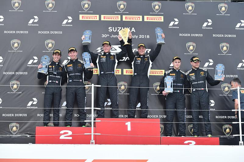 PROクラス レース1の表彰式