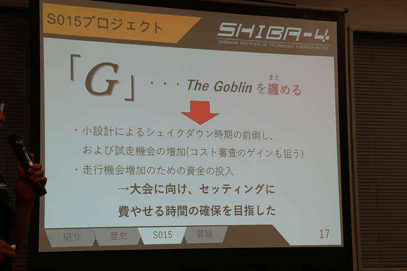 小さく力強い「The Goblin」の「S014」を磨き上げた「G」がS015のコンセプト