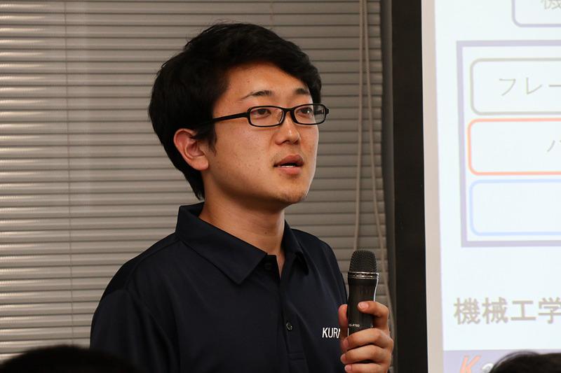 神奈川大学 4年 プロジェクトリーダーの田村健昇氏
