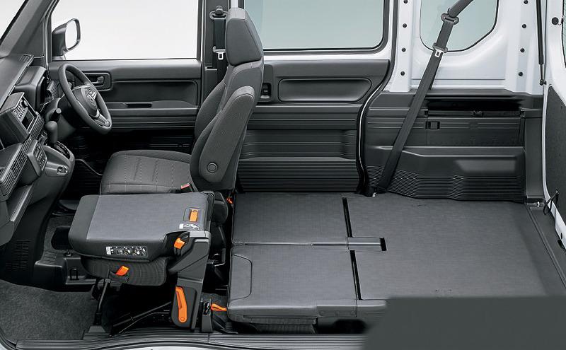 走行中の使用はできないが、1名乗車時には助手席をテーブルとして使うことも可能