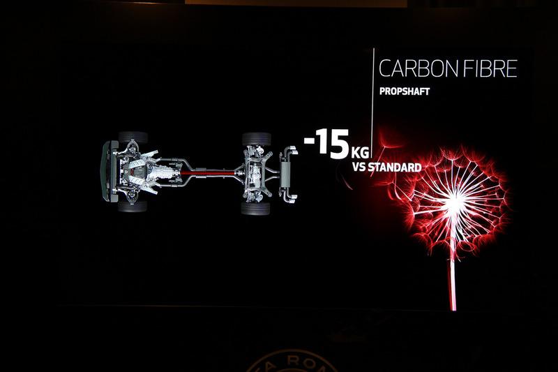 プロペラシャフトのカーボン化により通常よりも15kg軽量化できたという