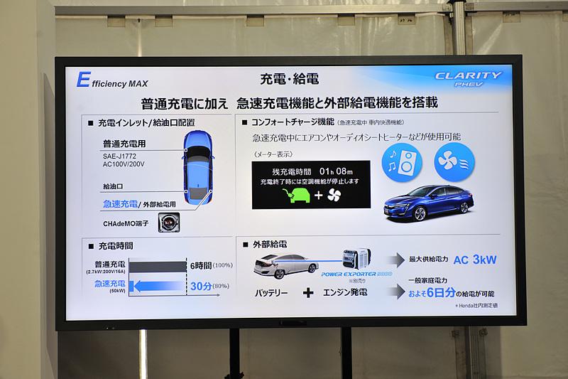 清水氏が説明に用いたその他のスライド。充電・給電について