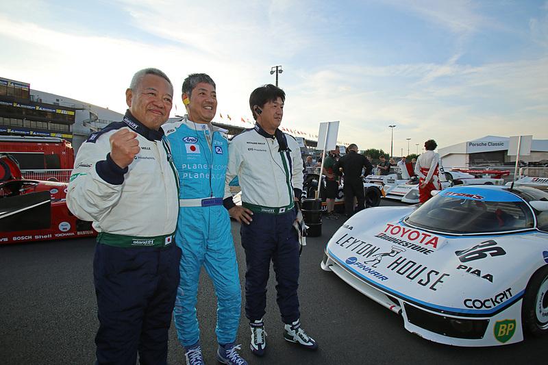 トヨタ 85C(1985年)で出場する国江仙嗣氏(右)と伊藤俊哉氏(左)ペア