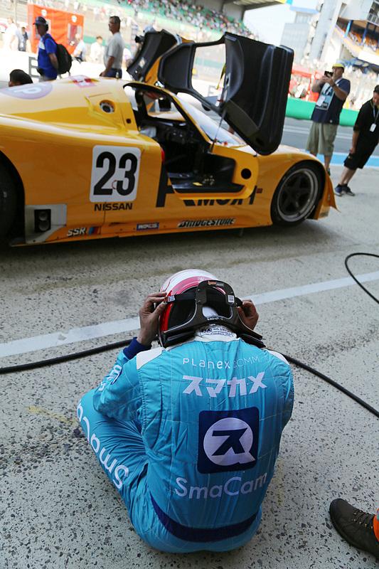 ラスト1周で……。落胆する久保田克昭氏