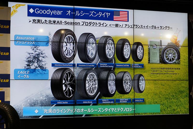 北米ではアシュアランスとイーグルのブランドでオールシーズンタイヤを用意