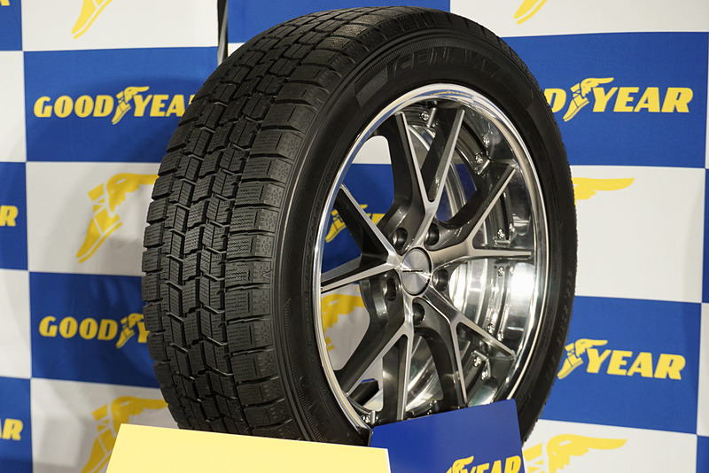 「175/55 R15 77Q」と「215/65 R17 99Q」の2サイズを追加したプレミアムスタッドレスタイヤの「ICE NAVI 7」