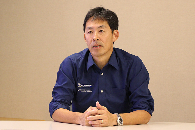 日本ミシュランタイヤ株式会社 製品開発本部 PC/LTタイヤ新製品開発部 部長 蔭山浩司氏