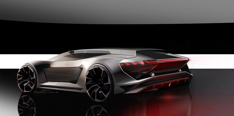 Audi PB18 e-tron コンセプトのスケッチ