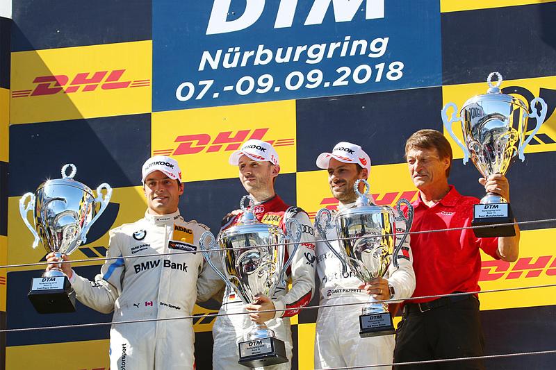 優勝したレネ・ラスト、2位ブルーノ・スペングラー、3位ガリー・パフェット