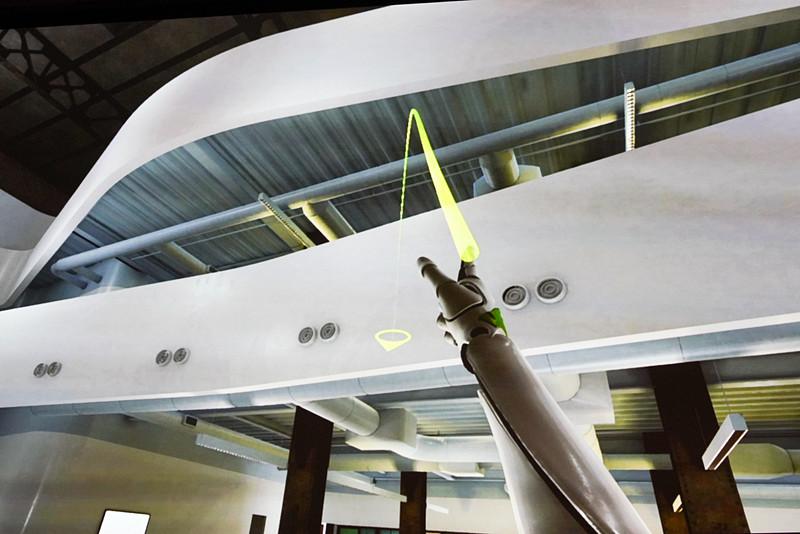 タッチパッドの下を押すと放物線が出てきてテレポートできる。向きはコントローラをひねる