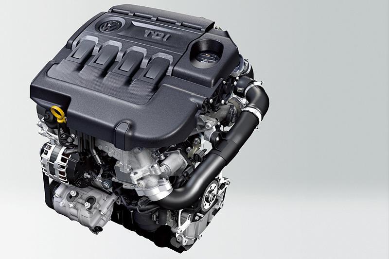最高出力110kW(150PS)/3500-4000rpm、最大トルク340Nm(34.7kgfm)/1750-3000rpmを発生する直列4気筒DOHC 2.0リッターターボディーゼルエンジン「TDI」を搭載