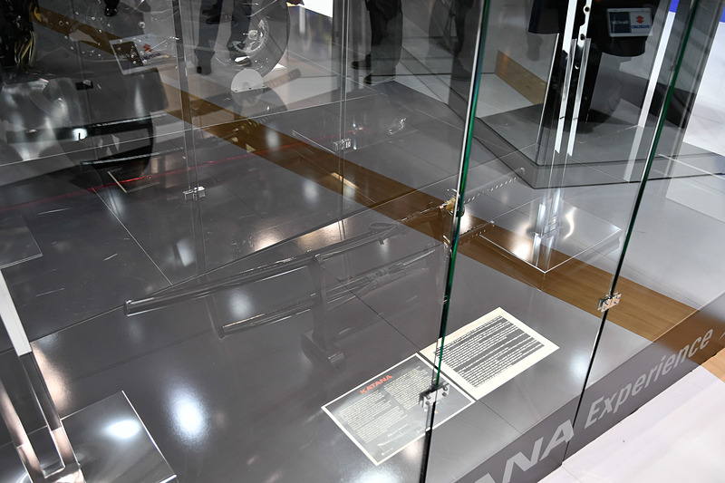 KATANAとともに展示されていた刀