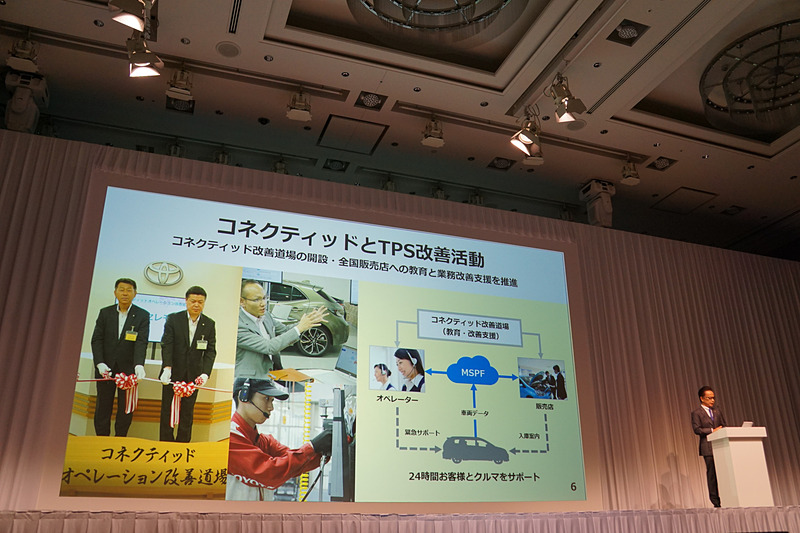 トヨタのコネクティッド戦略における「3本の矢」や、それに向けた取り組みを示すスライド