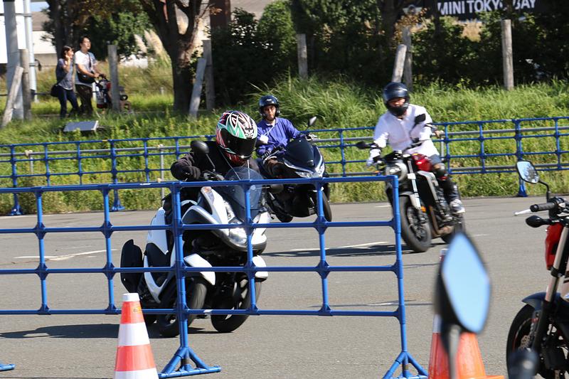 最新2輪車試乗体験では、ヤマハ発動機のマルチホイールコミューター「トリシティ」も試乗車としてラインアップ