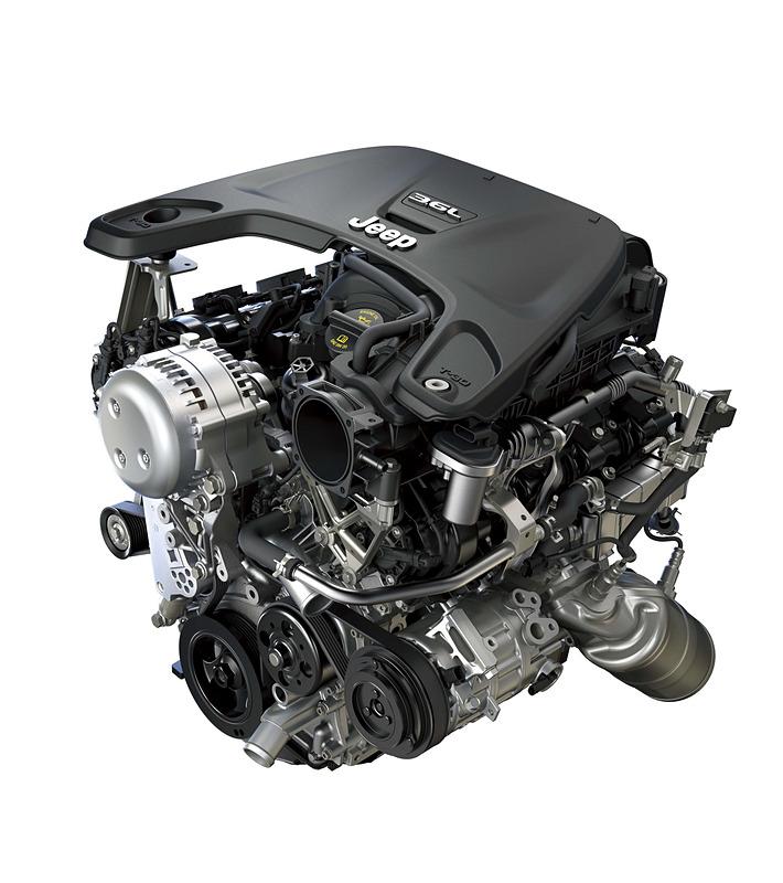 「Sport」「Unlimited Sahara Launch Edition」に搭載される最高出力284PS、最大トルク347Nmを発生するV型6気筒DOHC 3.6リッターエンジン