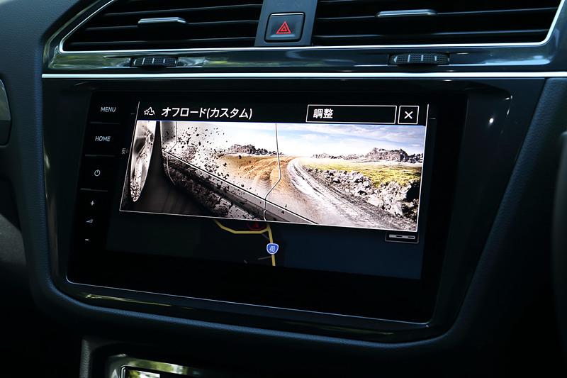 オンロードモード内には「エコ」「コンフォート」「ノーマル」「スポーツ」「カスタム」という5種類のドライビングプロファイルが用意される