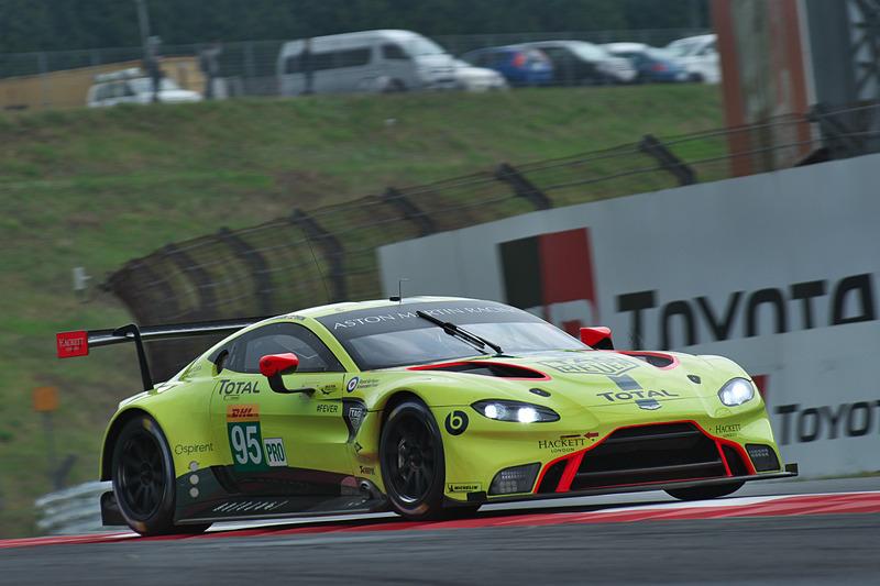 FP2でLMGTE Proの1位となった95号車 Aston Martin Vantage AMR(マルコ・ソーレンセン/ニッキ・ティーム組、MI)
