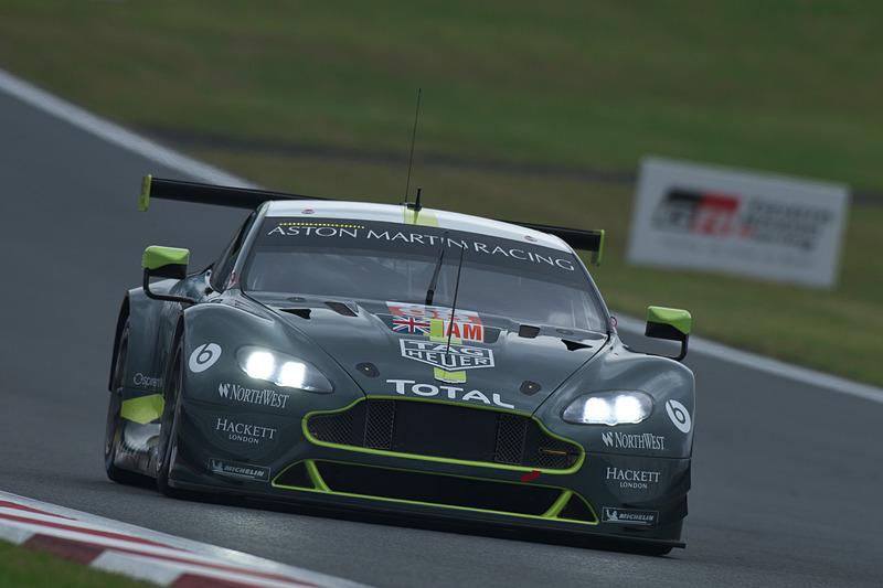 FP1でLMGTE Amの1位となった98号車 Aston Martin Vantage(ポール・ダラ・ラナ/ペドロ・ラミー/マシアス・ラウダ組、MI)