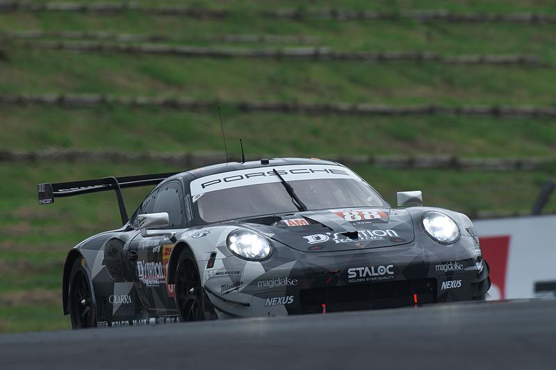 FP2でLMGTE Amの1位となった88号車 Porsche 911 RSR(星野敏/ジョルジオ・ローダ/マッテオ・カイローリ組、MI)