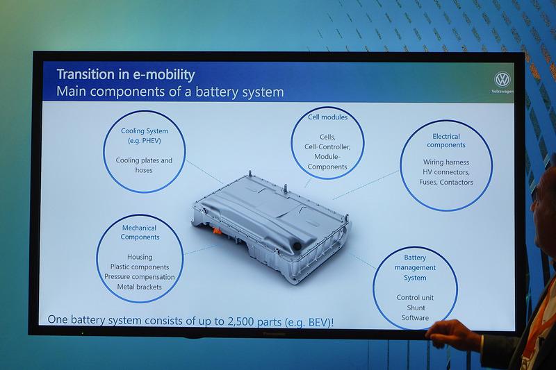 バッテリーシステムは2500ものパーツで構成される