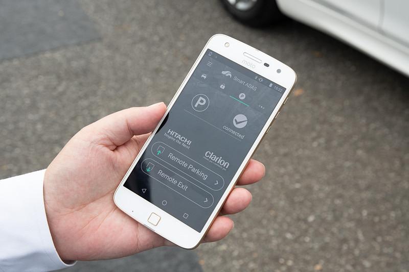 スマートフォンの操作画面
