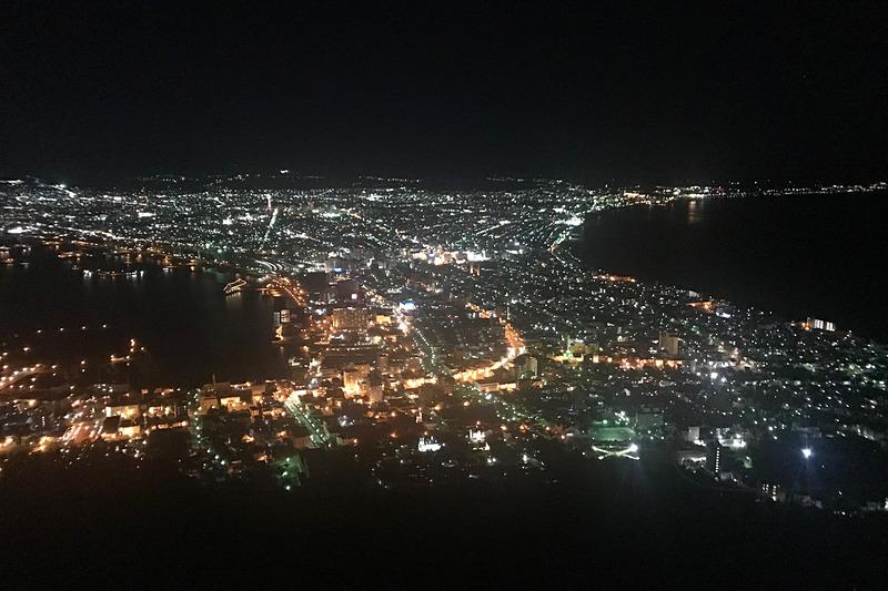 函館山から見た100万ドルの夜景!