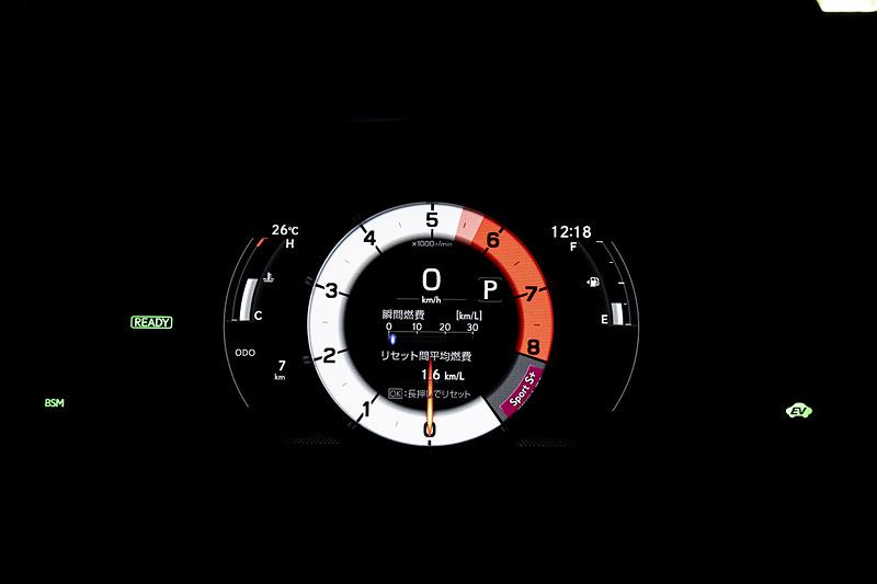 S+モード時の表示