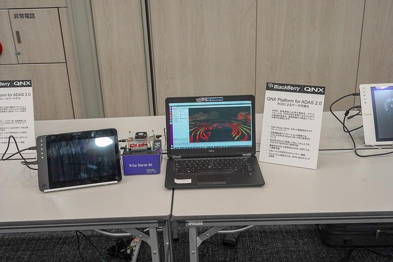 R-CarとQNXを利用したデータの可視化のデモ