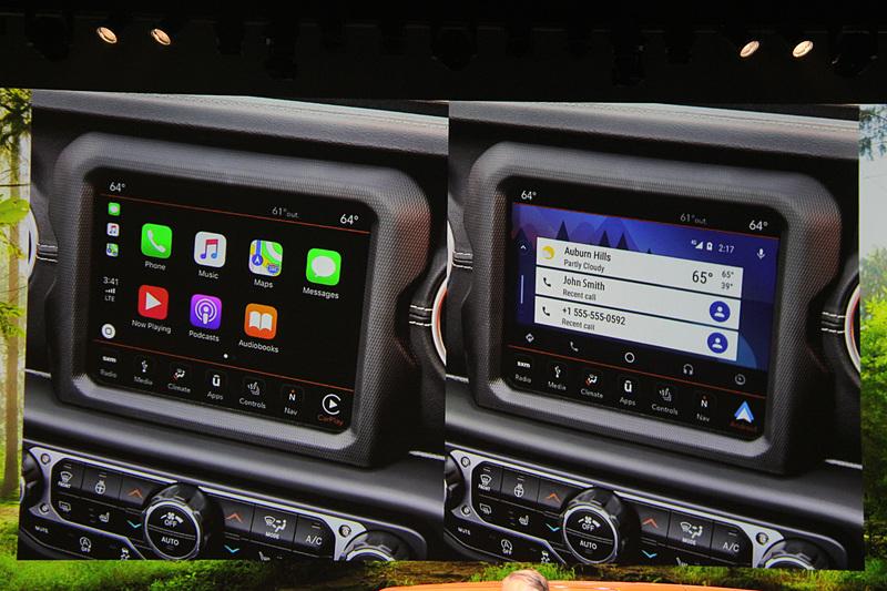 Apple CarPlay、Android Autoに対応する最新世代のUconnectを全車搭載